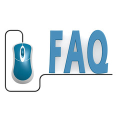 FAQ word with computer mouse
