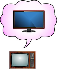 Old television dreams of becoming a new tv