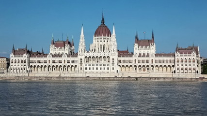 Parliament Building on Danube river in Budapest