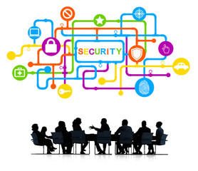 Business People Meeting Security Concept
