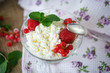 sweet curd with berries