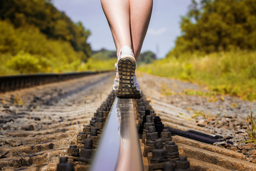 railroad rail feet