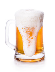 glass of beer foam