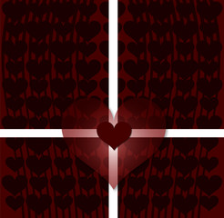 love valentine card on red texture