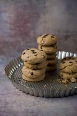 Schokoladen Pudding Cookies mit Schokostückchen