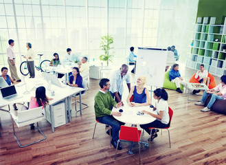 Business People Board Room Meeting Global Communication Concept