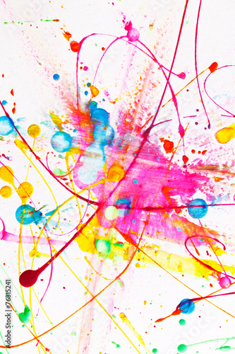 Colorful bright ink splashes © Maksim Shebeko