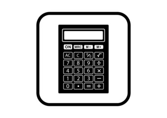 Calculator vector icon on white background