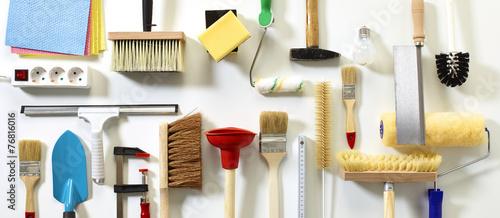 Leinwanddruck Bild Hausmeister-Service