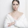 Elegant lady in fur coat