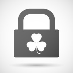 Lock icon with a clover