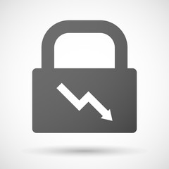 Lock icon with a graph