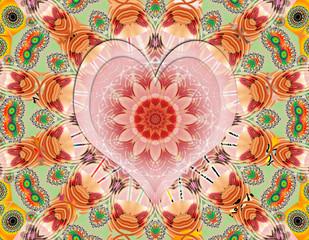 Love positive energy mandala