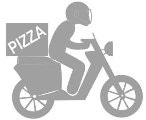 scooter livreur express pizza