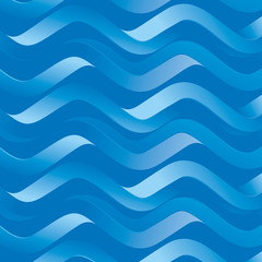 Blue abstract pattern with waves