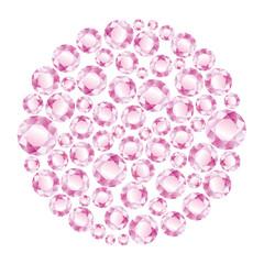 Circle of pink diamonds
