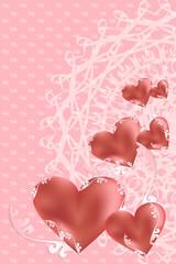 バレンタイン ハート背景
