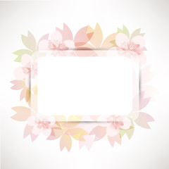 cherry blossom flowers background card