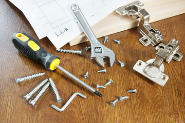 Working tools for assembly of furniture