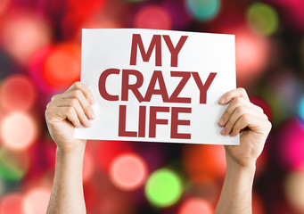 My Crazy Life card with colorful background