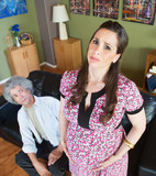 Miserable Pregnant Woman with Husband poster
