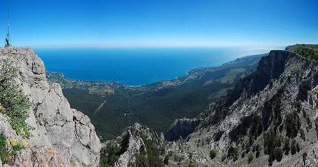 Panorama with Ah-Petri. Crimea