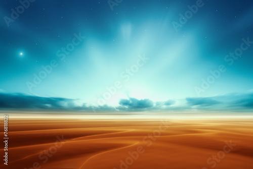 Dreamy fantasy alien mars desert like fantasy landscape - 76818822