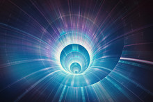 "Постер, картина, фотообои ""Colorful 3D speed tunnel warp concept"""