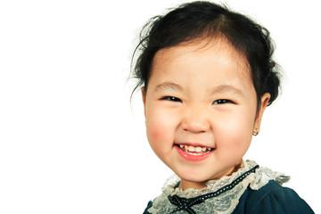 Little beautiful asian girl smiling
