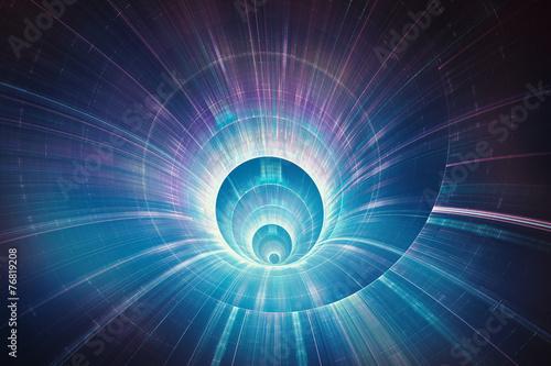 fototapeta na ścianę Kolorowe prędkości 3D tunelu koncepcji osnowy