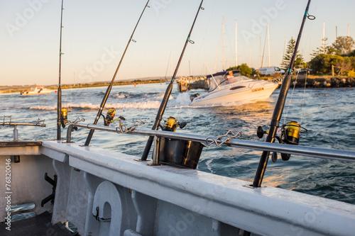 Fotobehang Vissen Fishing and Boating