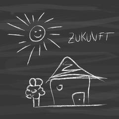 Nachricht Konzept Zukunft Umwelt Sonnenenergie HauImmobilie
