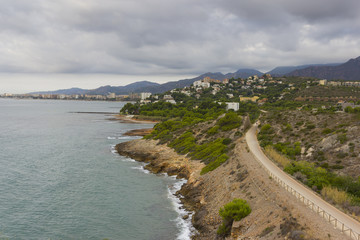 The green way from Oropesa at Benicassim