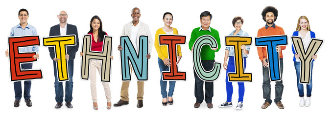 Multiethnic Group of People Holding Concept