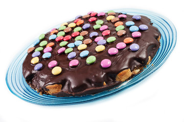 chocolate cake with smarties