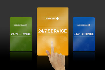 24 hours a day and 7 days a week service gold card