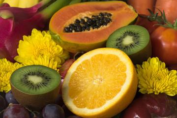 Close up orange juice