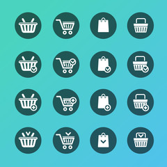 Vector Set of shopping cart icons
