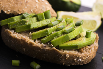 Sandwich with avocado