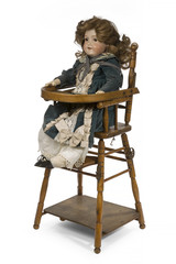 Childs ceramic life sized dressed doll original