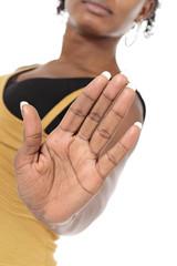 main femme noire