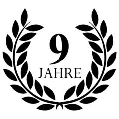 Lorbeerkranz. 9 jahre jubiläum