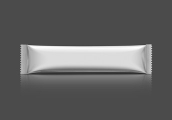 blank stick sachet isolated on gray background