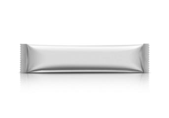 blank stick sachet isolated on white background