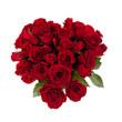 canvas print picture - ein Strauß rote Rosen