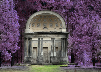 The Eagle pavilion. Russia. Saint-Petersburg. Gatchina