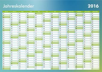 Kalender 2016 Jahresplaner Jahreskalender