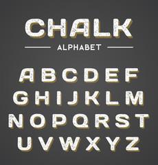 3D Chalk Alphabet