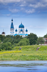 Pokrova Bozhiej Materi's orthodox church in Marienburg,Gatchina