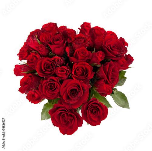 canvas print picture ein Strauß rote Rosen